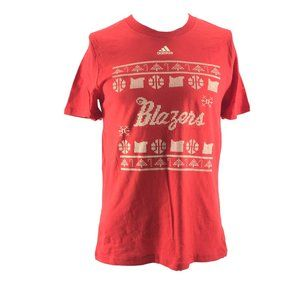 Men's Adidas NBA TrailBlazers Design T-Shirt